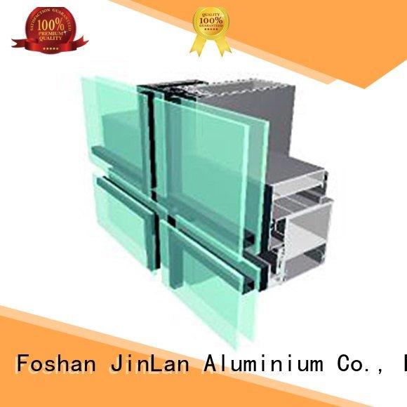 JinLan Brand aluminum walls series aluminum curtain wall