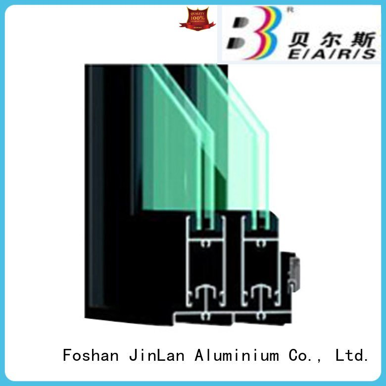 JinLan aluminium section aluminium frame sliding blasting