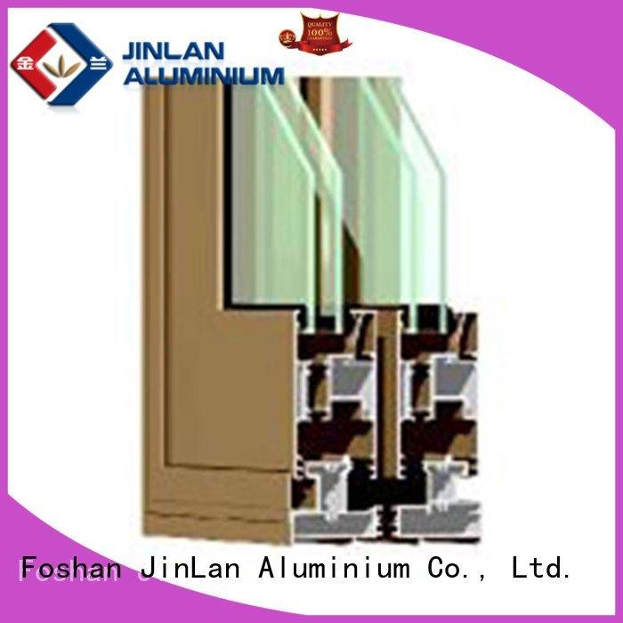 OEM aluminium section wood frame extrusion aluminium extrusion sections
