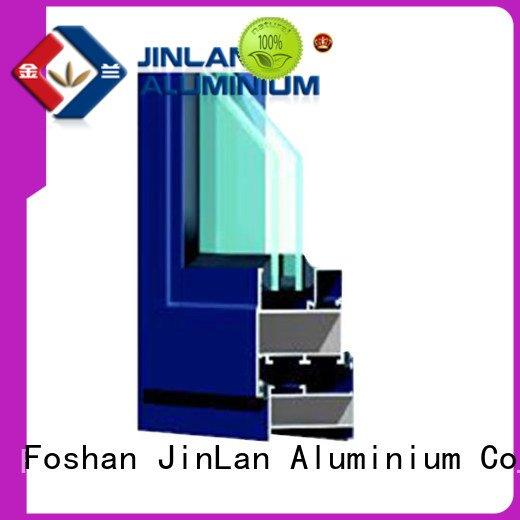 aluminium window Wholesale grain aluminium section JinLan Brand sections