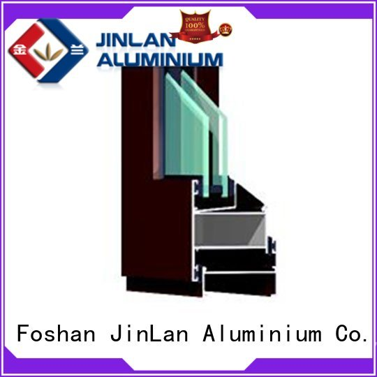 JinLan Brand frame customized trendy professional aluminium sliding doors