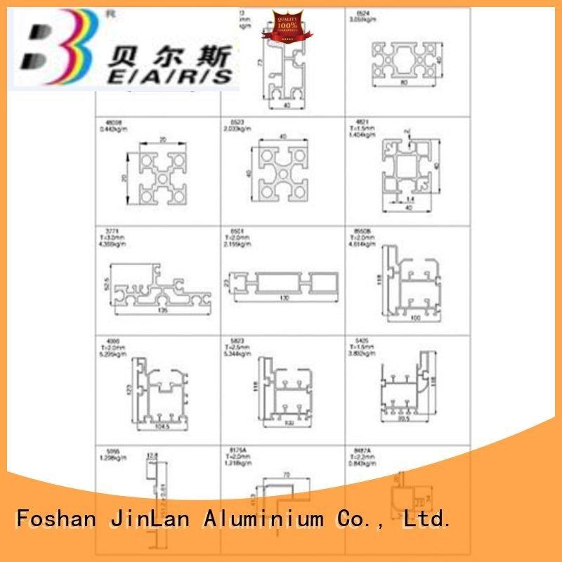 aluminum rectangular tubing extrusion JinLan Brand aluminium extrusion manufacturers in china