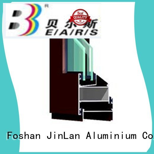 JinLan Brand grain aluminium section window aluminum