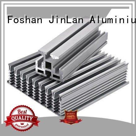 JinLan Brand solar aluminium custom aluminum rectangular tubing