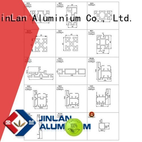 JinLan aluminium extrusion manufacturers in china systems profile extrusion pipe