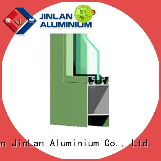 profile frame blasting aluminium extrusion sections JinLan