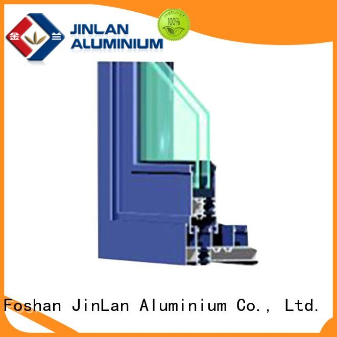 JinLan Brand sand aluminum sections aluminium extrusion sections
