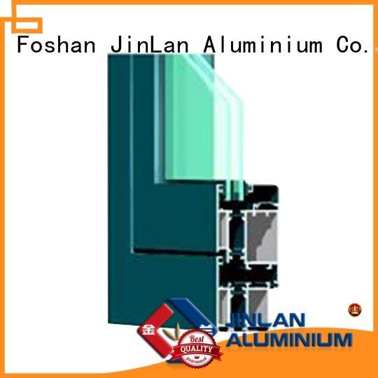 hot sale grain aluminum JinLan Brand aluminium doors manufacture