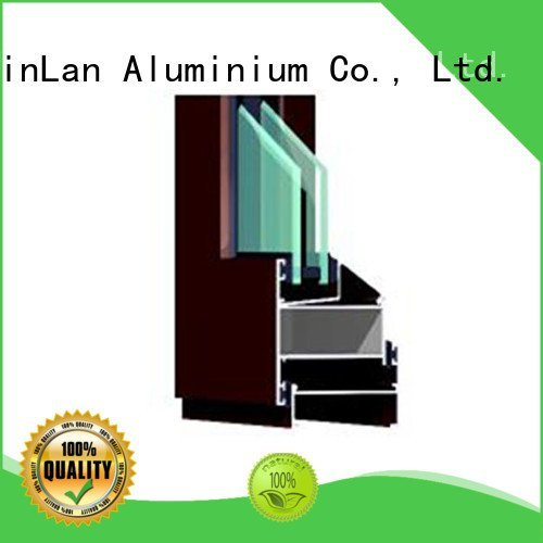 JinLan aluminium section extrusion window grain