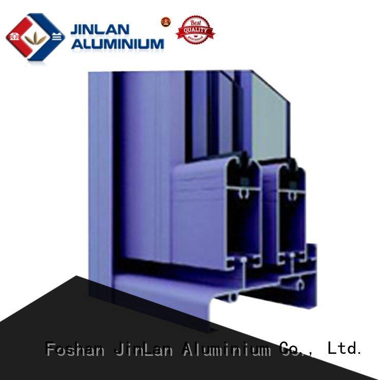 JinLan customized aluminium extrusion sections profile windows