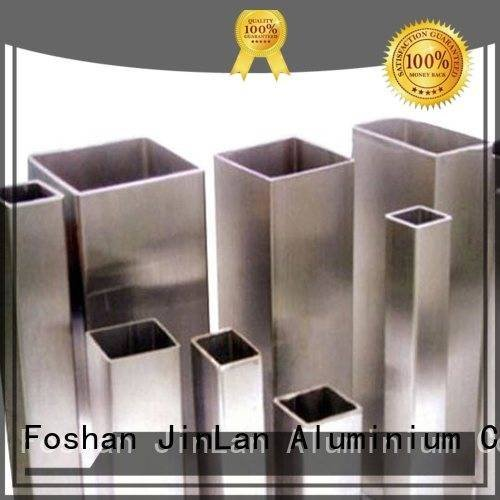 JinLan stand extrusion pipe aluminum rectangular tubing solar