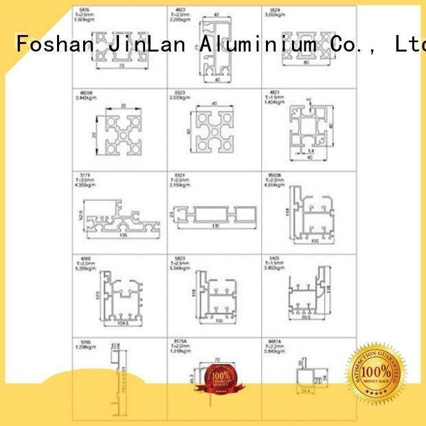 Quality aluminum rectangular tubing JinLan Brand profile aluminium extrusion manufacturers in china