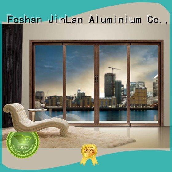 JinLan Brand casement sliding aluminium windows aluminum doors