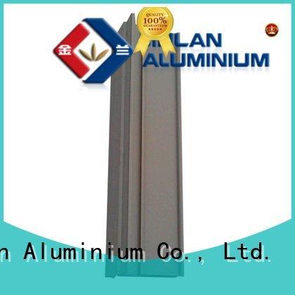 JinLan solar stand pipe aluminum rectangular tubing extrusion
