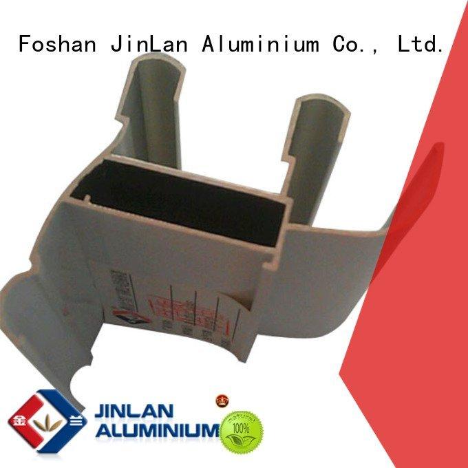 Quality aluminum rectangular tubing JinLan Brand pipe aluminium extrusion manufacturers in china