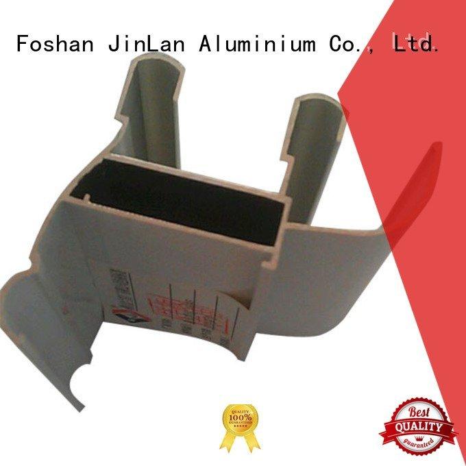 JinLan Brand extrusion pipe aluminum rectangular tubing profile systems