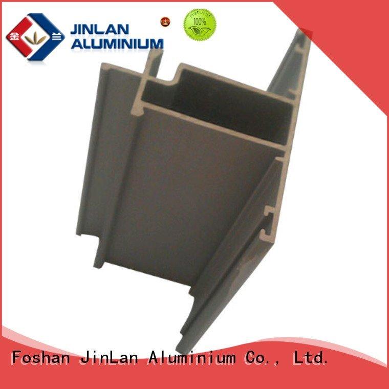 JinLan Brand extrusion stand aluminum rectangular tubing solar pipe