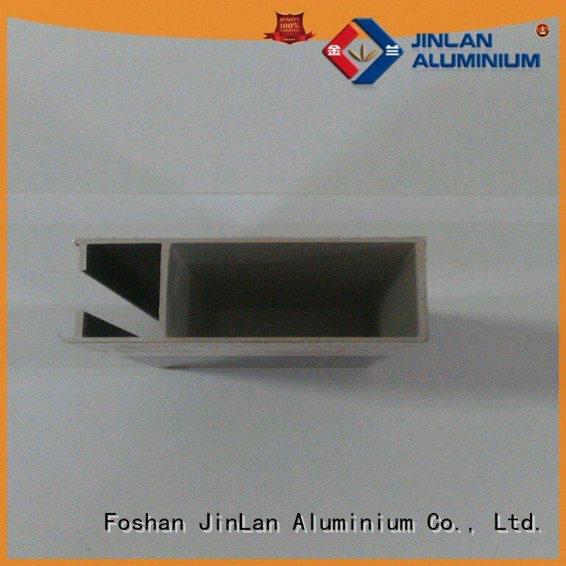 aluminium pipe aluminum rectangular tubing JinLan