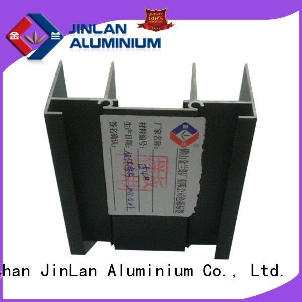 JinLan Brand stand profile extrusion aluminum rectangular tubing