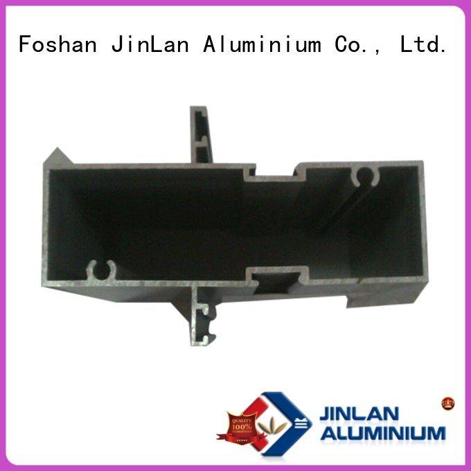 JinLan stand profile extrusion aluminum rectangular tubing systems