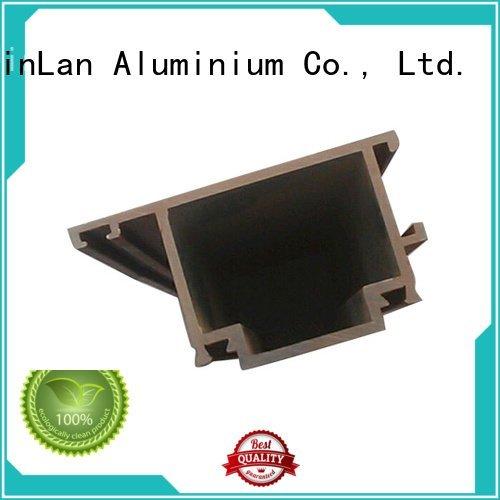 Quality aluminum rectangular tubing JinLan Brand extrusion aluminium extrusion manufacturers in china