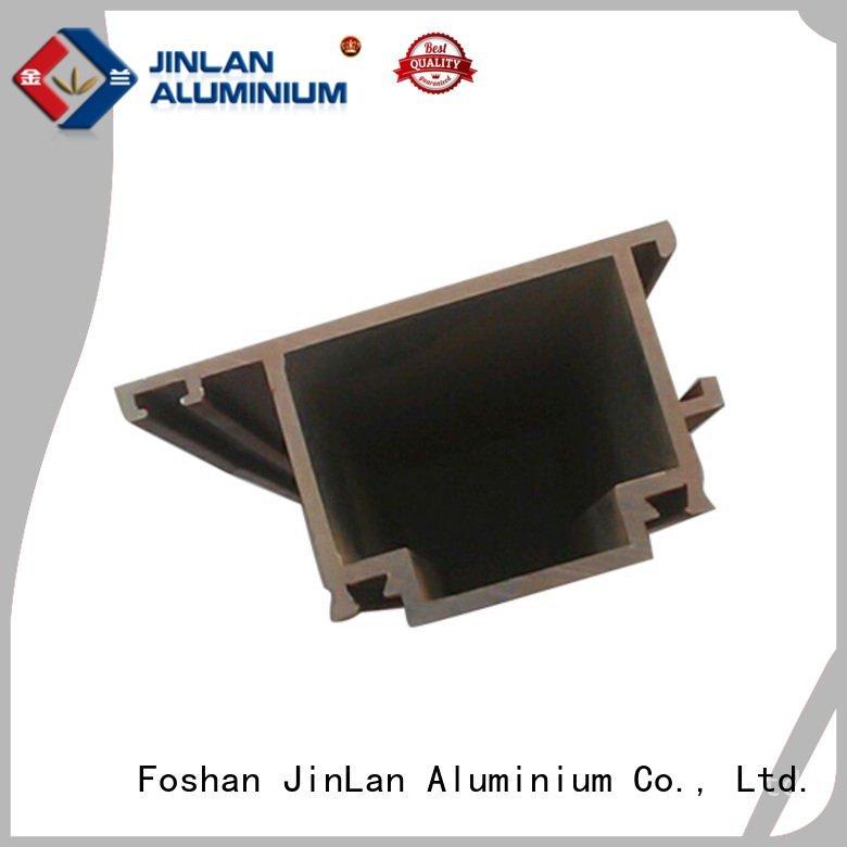 Quality aluminum rectangular tubing JinLan Brand stand aluminium extrusion manufacturers in china