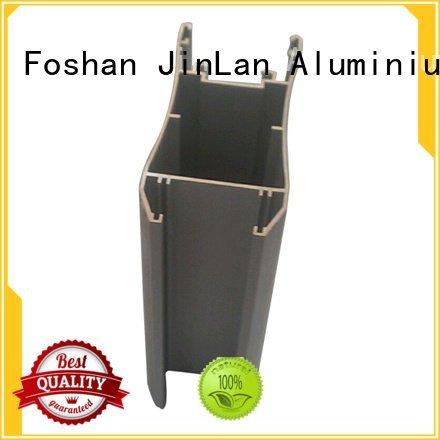 JinLan Brand solar aluminum rectangular tubing pipe extrusion